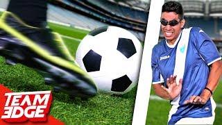 Painful Blindfolded Soccer Dodgeball!!