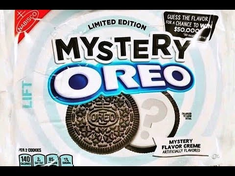 Mystery Oreos...we try them & guess the flavor