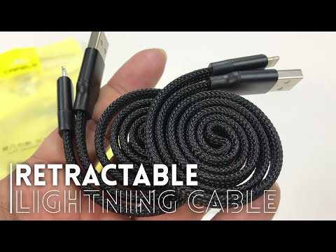 Flexible Retractable iPhone Lightning Cable by Cafele Review