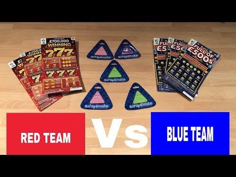 TEAM RED VS TEAM BLUE SCRATCH OFF