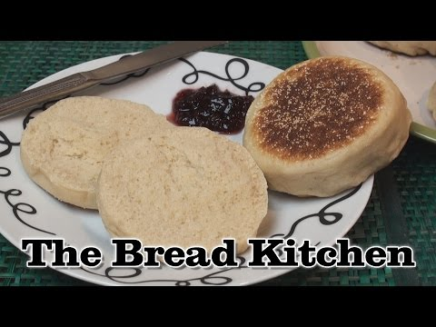 Homemade English Muffin Recipe in The Bread Kitchen