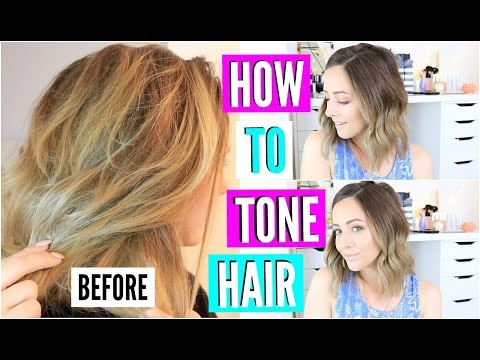 DIY Hair Toner For Brassy Blonde Hair!