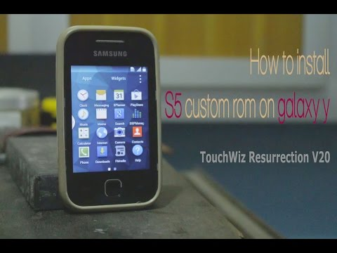How to install S5 custom rom on galaxy y (TouchWiz Resurrection V20) 100% working