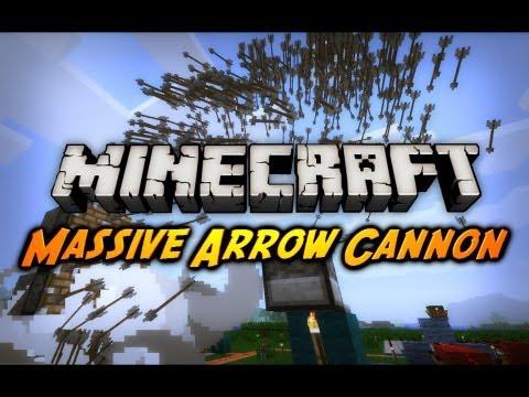 Minecraft: Automatic Arrow Cannon (Pistons + TNT)