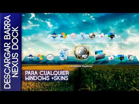Descargar Barra Nexus Dock Para Windows 7/8/8.1/10 Full en Español | LA MEJOR BARRA DOCK|