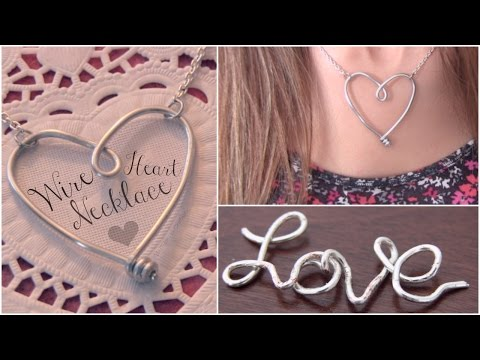 DIY WIRE HEART NECKLACE Pendant - Jewelry Making - How To | SoCraftastic