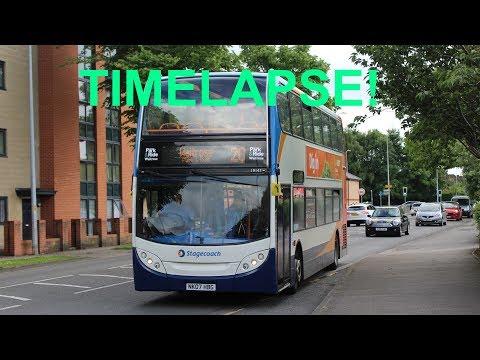 TIMELAPSE!   Lincoln Park & Ride   Stagecoach 19147 (NK07HBG)   Alexander Dennis E400 (Trident)