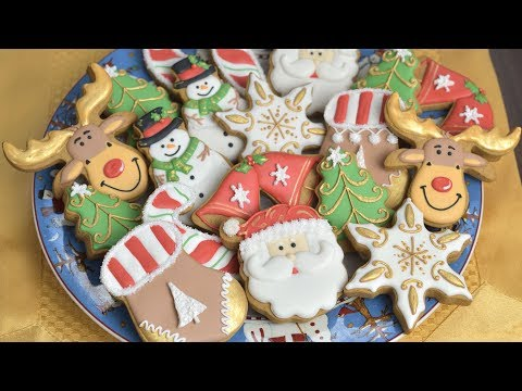 CHRISTMAS COOKIES, Decorating with Royal Icing for Beginners by HANIELA'S