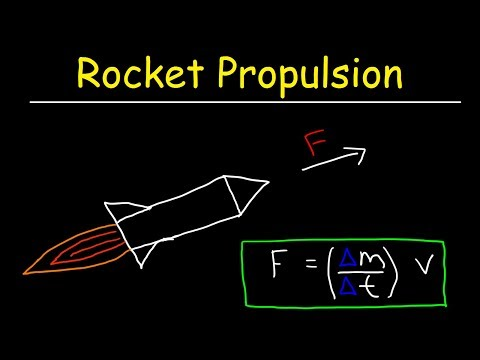 Rocket Propulsion Physics & Mass Flow Rate - Newton's 3rd Law of Motion