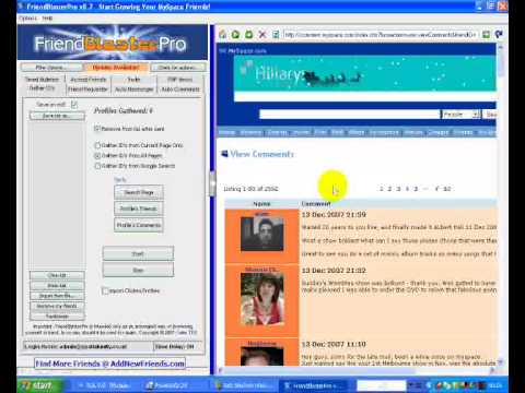 Friend Blaster Pro Tutorial How to Add Friends on MySpace