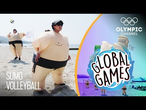 Sumo Volleyball - Olympians vs Influencers | The Global Games