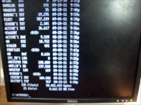 Windows 98 SE in DOS mode
