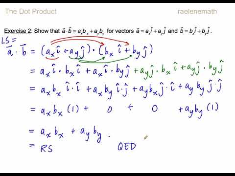 1.2 The Dot Product Ex. 1,2,3