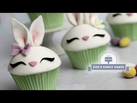 Bunny cupcake tutorial for Easter