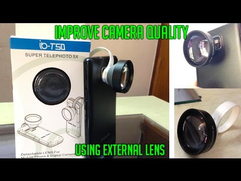 Improve your phones Camera Quality with External Lens!