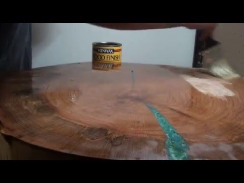 Custom Wood Table -Color Epoxy Inset Process