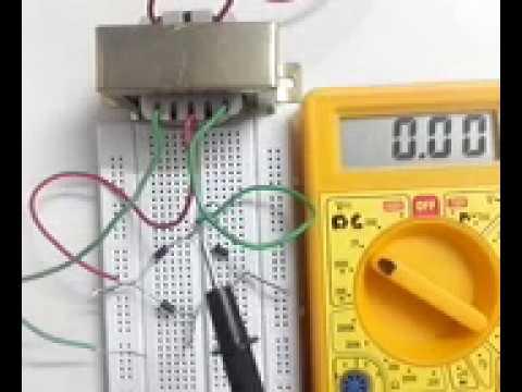Half wave bridge rectifier experiment using transformer testing half wave rectifier with multimeter