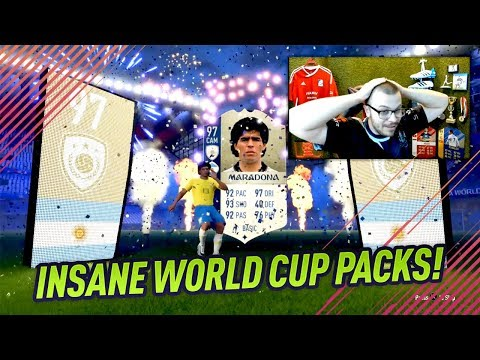 CRAZY WORLD CUP PACK OPENING! FIFA 18 ICON MARADONA 97 in A WORLD CUP PACK!