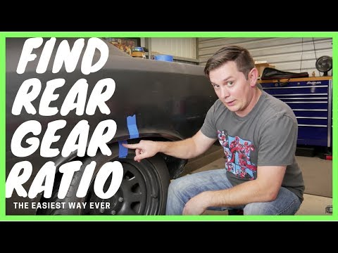 Easiest Way to Determine Rear End Gear Ratio on a Limited Slip Differential