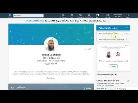 How to change profile URL in Linkedin