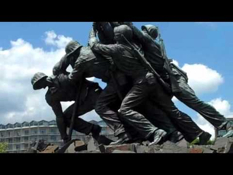 Iwo-Jima statue of US Marines memorial near Washington DC