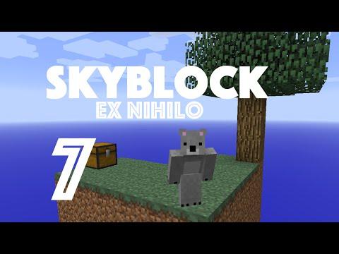 SkyBlock (Ex Nihilo) - Ep. 7 - SUPER MOD ITEMS: CRUCIBLES + BARRELS