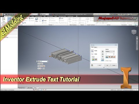 Inventor Extrude Text Tutorial