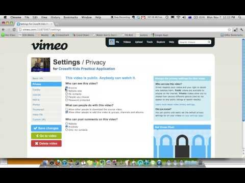 How To Password Protect A Video In Vimeo