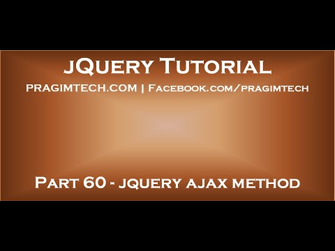 jquery ajax method