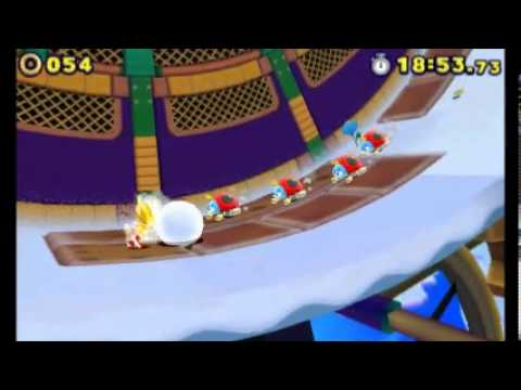 Sonic Lost World (3DS) - Super Sonic (Frozen Factory)