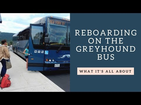 What is 'Reboarding' on the Greyhound Bus?