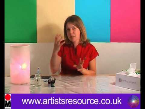 How to Hand Paint a Lightbulb - Glass Painting Project - Art and Craft
