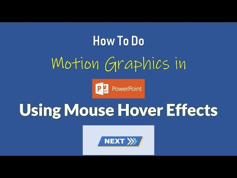 Next Action Button | Motion Graphics in PowerPoint 2016 With Mouse Hover Effects | The Teacher
