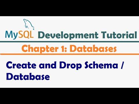 How to Create and Drop Schema / Database in MySQL or MariaDB - MySQL Developer Tutorial