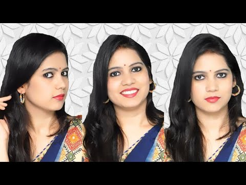 Indian Makeup Look With Only 3 Products | 3 Products Makeup Challenge ||TipsToTop By Shalini
