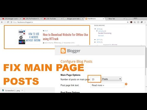 Fix Problem Number of Posts on Main Page Blogger