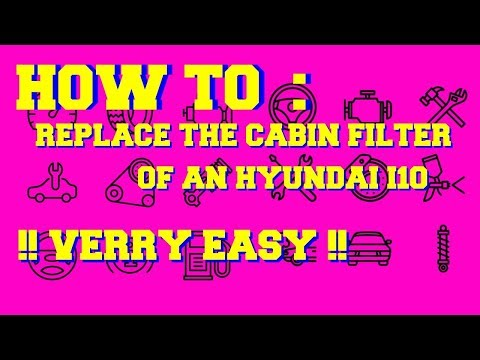HOW TO: CABIN FILTER CHANGE HYUNDAI I10 *easy*