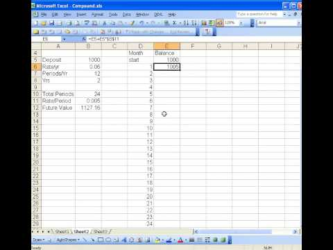 Simulating compound growth in Excel