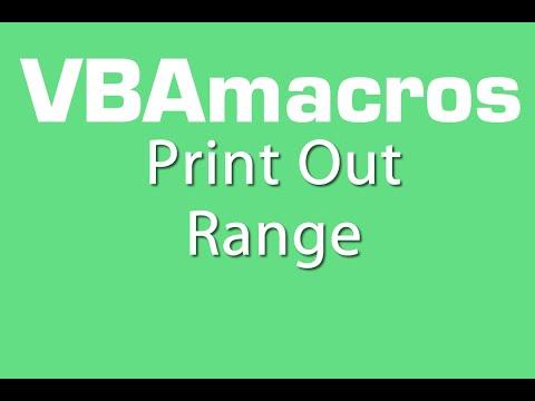 Print Out Range - VBA Macros - Tutorial - MS Excel 2007, 2010, 2013