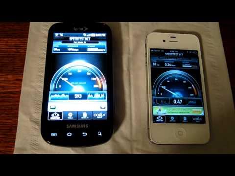 Sprint iPhone 4s vs. Samsung Epic 4G - 3G Speed Test