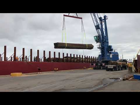 Port Canaveral On frontline for shipping much needed utility poles and equipment to Puerto Rico