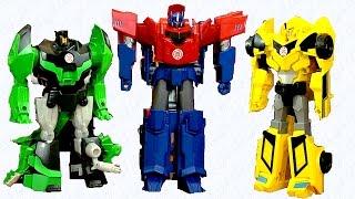Set Hero Class Three Step Changers - Transformers Robots In Disguise - Optimus, BumbleBee, Grimlock