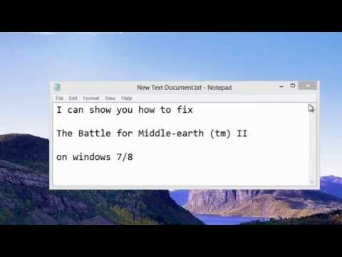 How to fix Lord of the rings The Battle for Middle-earth II on windows 7/8 or 10