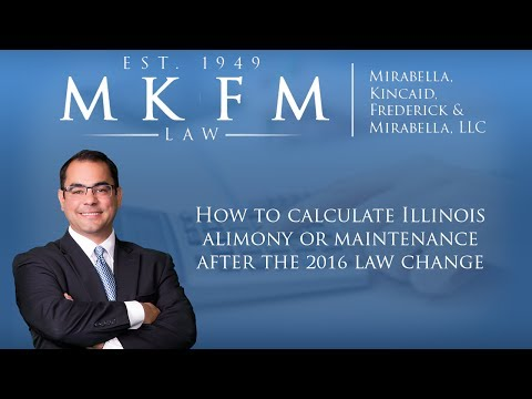 How to Calculate Illinois Alimony or Maintenance After the 2016 Law Change