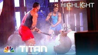 Heavyweight Competitors Struggle in an Intense Atlas Smash Battle - Titan Games 2019