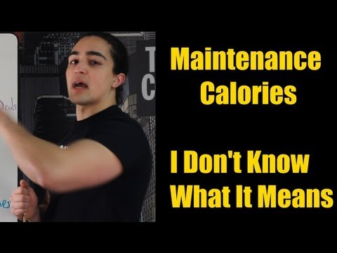 HOW TO CALCULATE MAINTENANCE CALORIES: Easiest Way