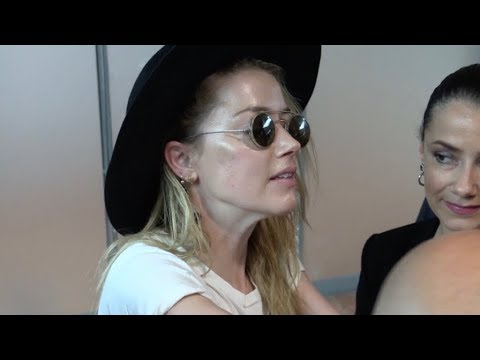 EXCLUSIVE : Amber Heard arriving at Nice airport for Cannes Film Festival