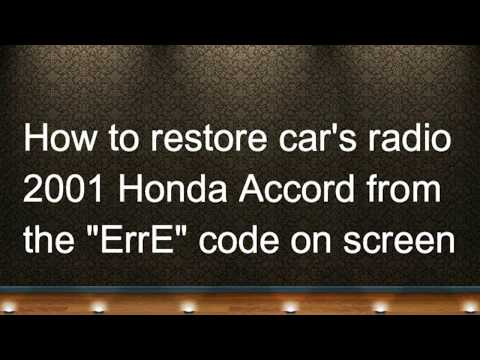 HOW to restore car radio in