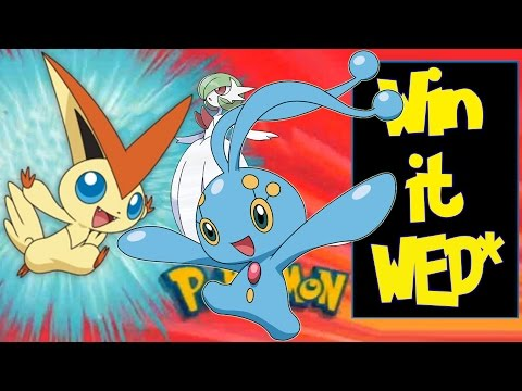 6IV Shiny competitive Manaphy Victini Giveaway Pokémon Oras XY Win It Wednesday