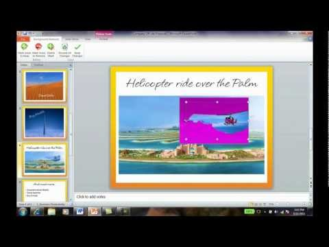 How to remove the background from a picture in PowerPoint 2010